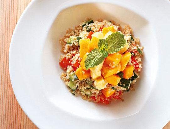 Mango and Pineapple Quinoa Salad