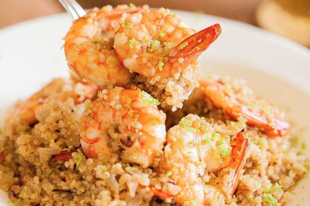 Stir Fried Quinoa with Prawn