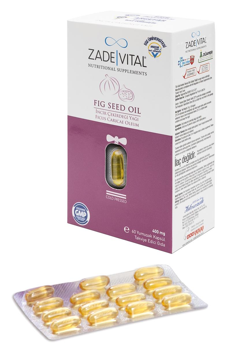 ZADEVITAL- FIG SEED OIL- 400mgx60 Blister_800