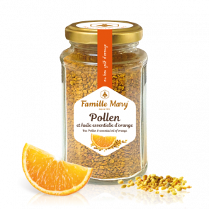 bee pollen & orange essential oil