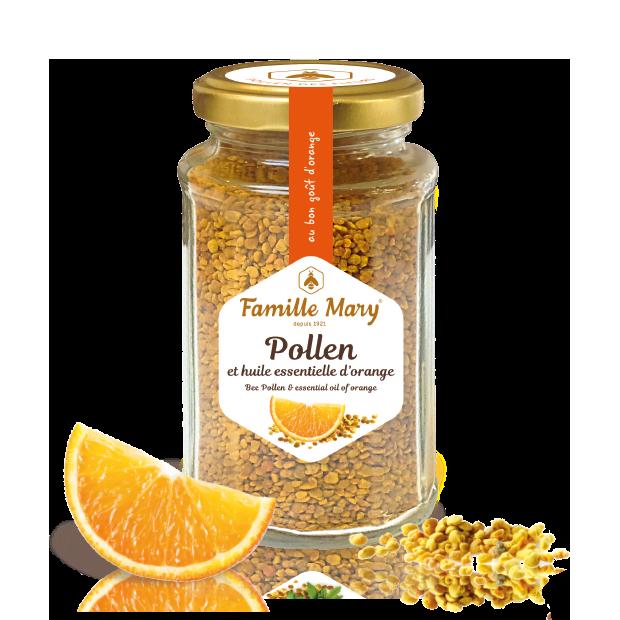 bee pollen & orange essential oil
