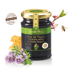 green propolis & thyme honey with royal jelly 39+